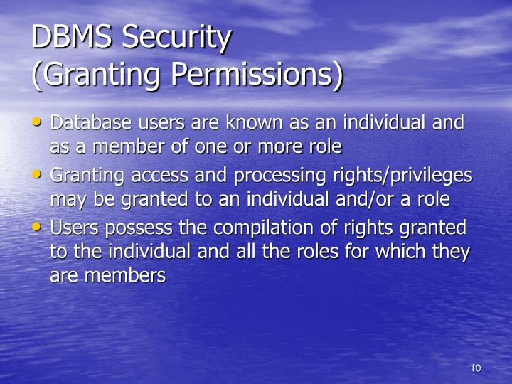 DBMS Security