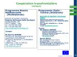 coop ration transfrontali re contacts