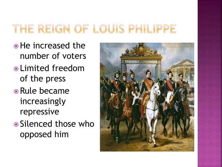 The Reign of Louis Philippe