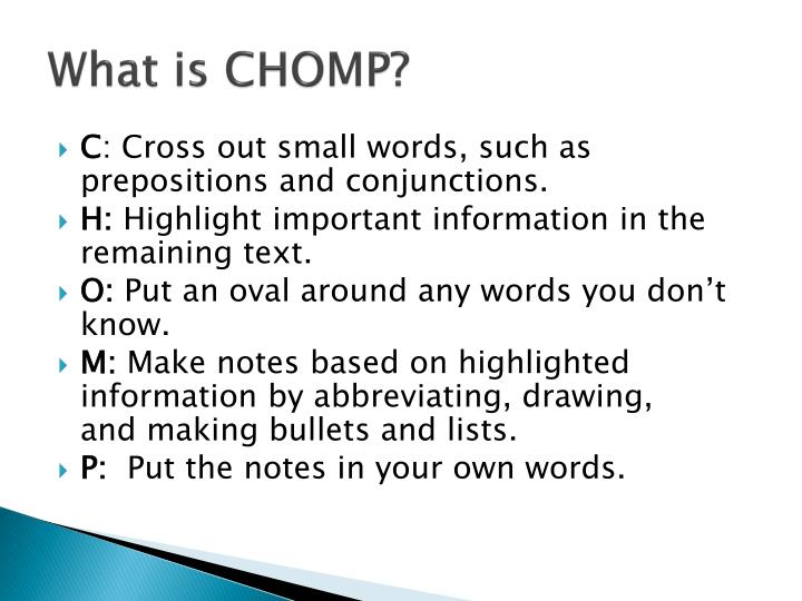 What is CHOMP?