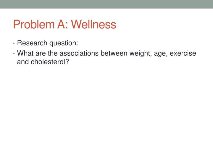 Problem A: Wellness