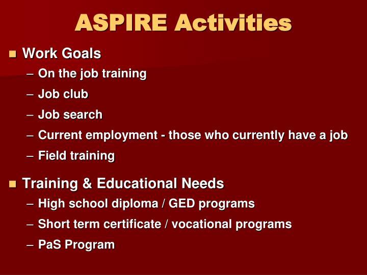 ASPIRE Activities