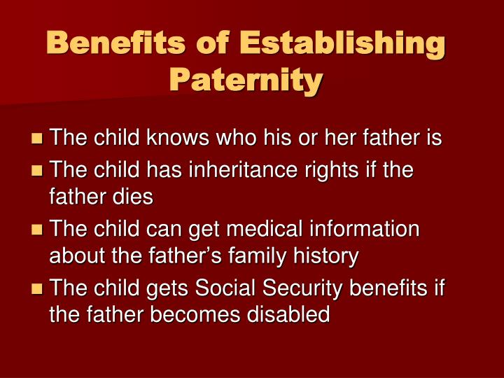 Benefits of Establishing Paternity