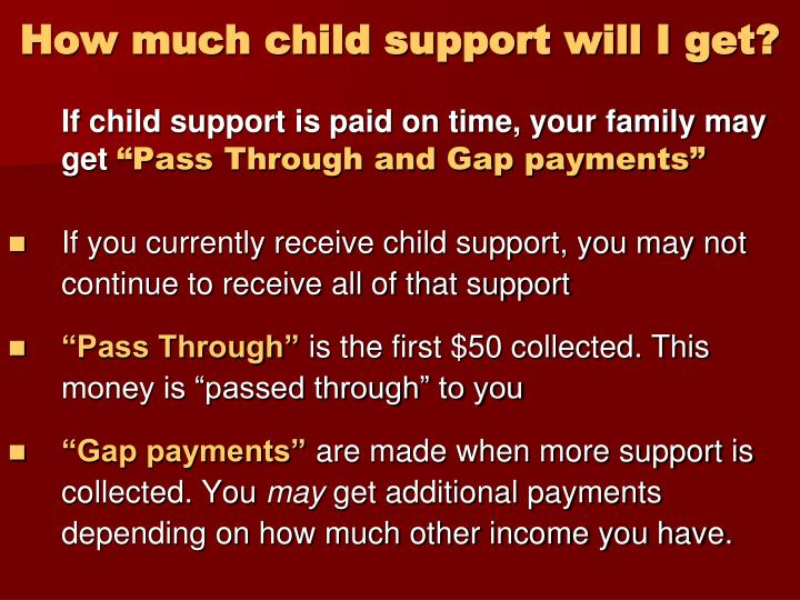 How much child support will I get?