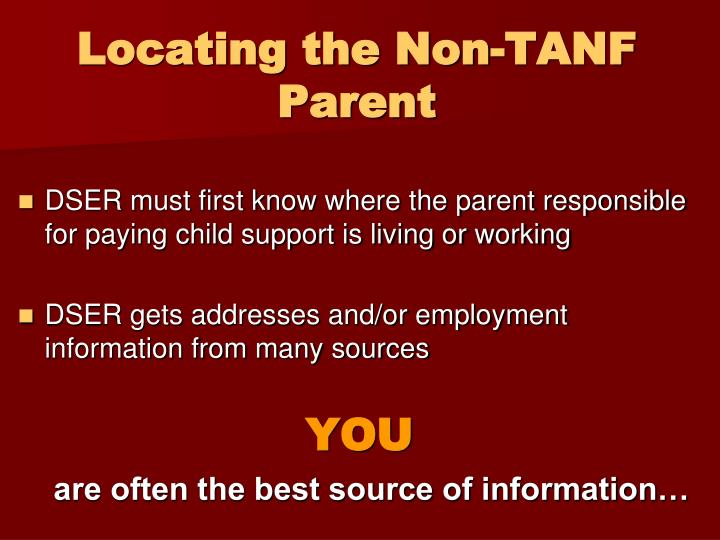 Locating the Non-TANF Parent