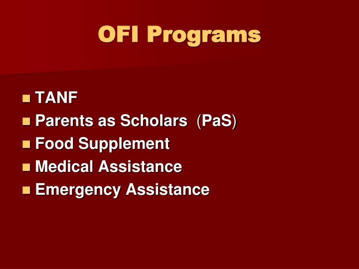 OFI Programs