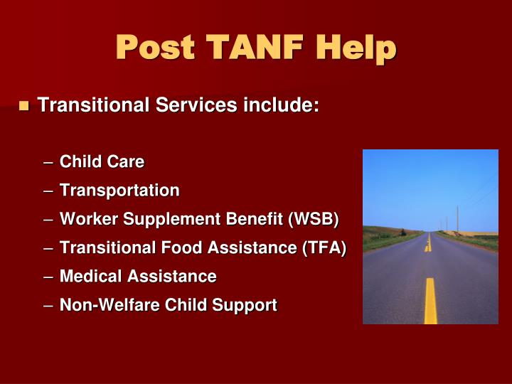 Post TANF Help