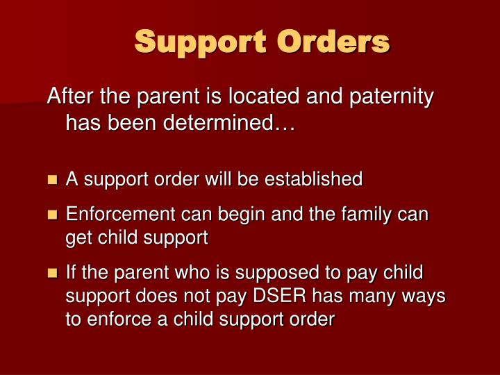 Support Orders