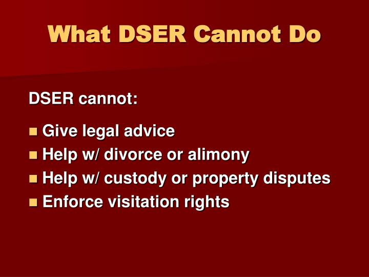 What DSER Cannot Do