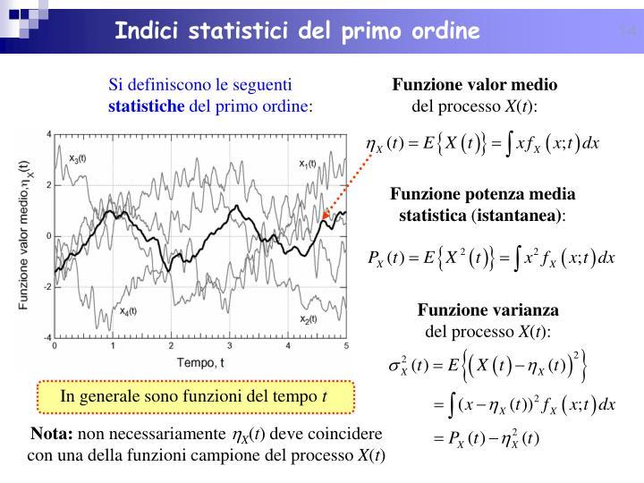 Indici statistici del primo ordine