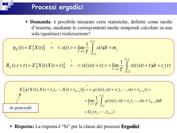 Processi ergodici