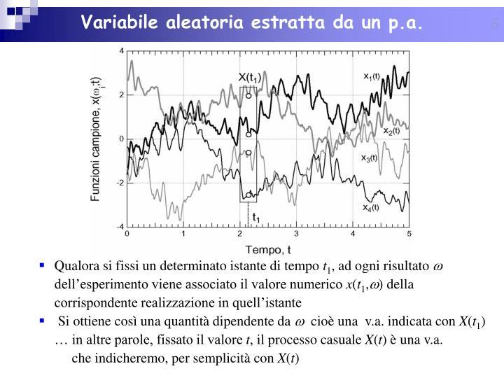Variabile aleatoria estratta da un p.a.