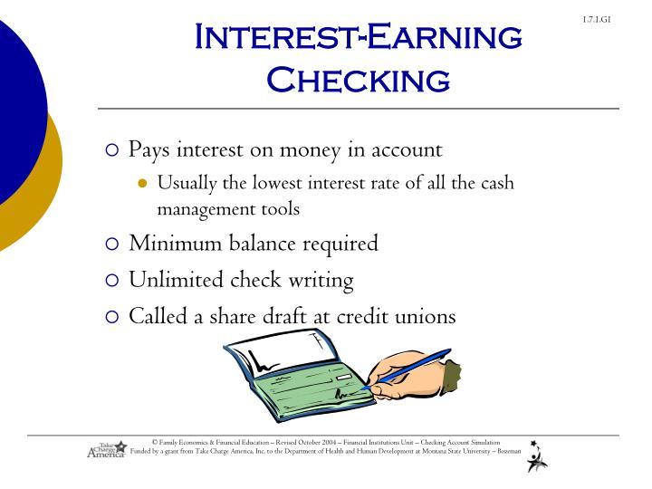 Interest-Earning Checking