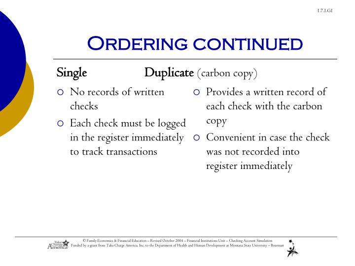 No records of written checks