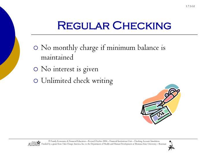 Regular Checking