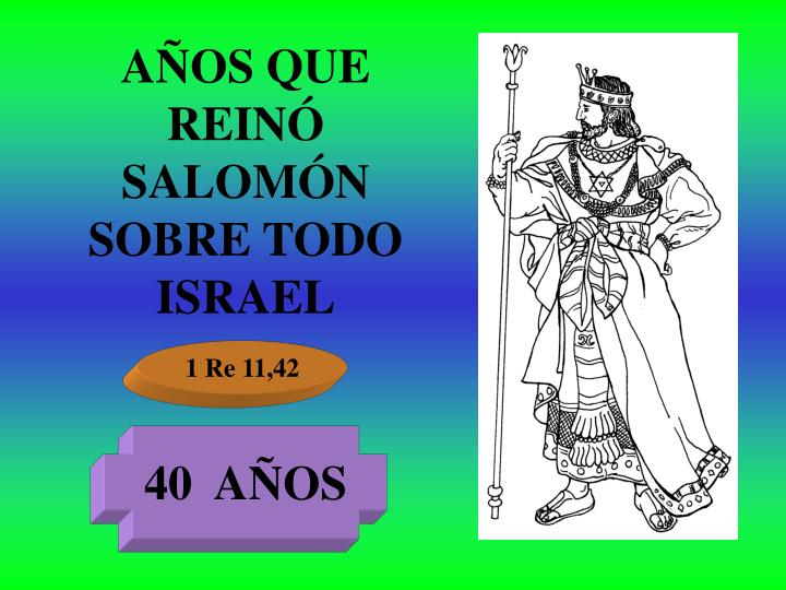 AÑOS QUE REINÓ SALOMÓN SOBRE TODO ISRAEL