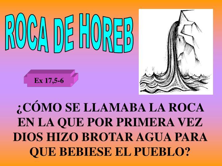 ROCA DE HOREB