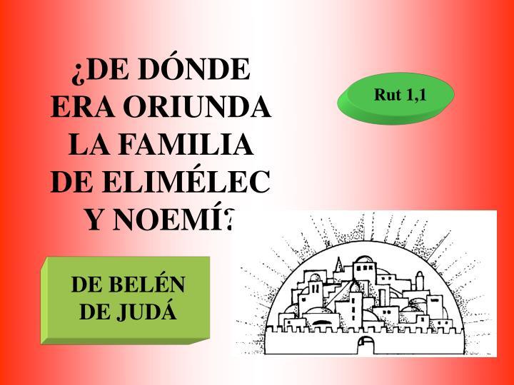 ¿DE DÓNDE ERA ORIUNDA LA FAMILIA