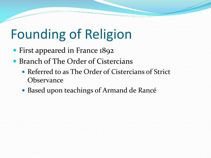 Founding of Religion