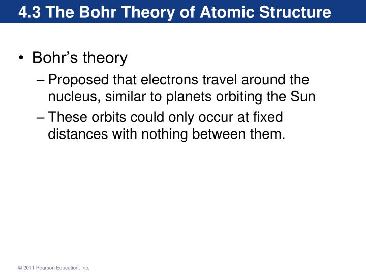4.3 The Bohr Theory of Atomic Structure