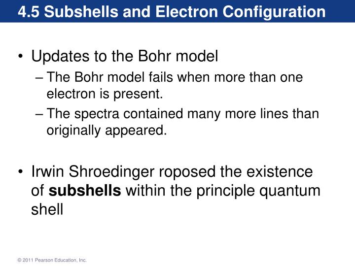 4.5 Subshells and Electron Configuration