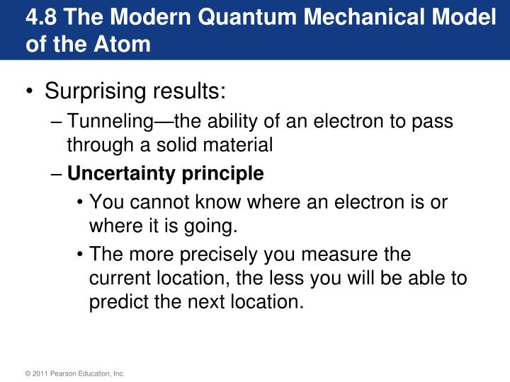 4.8 The Modern Quantum Mechanical Model of the Atom