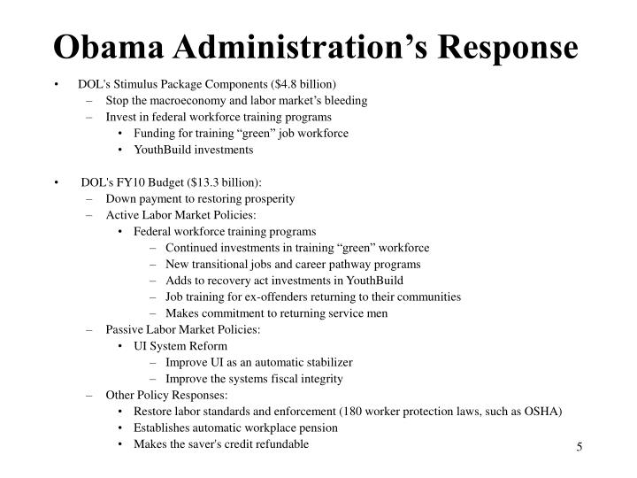 Obama Administration's Response