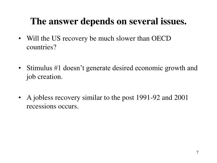 The answer depends on several issues.