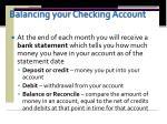 balancing your checking account1