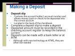 making a deposit