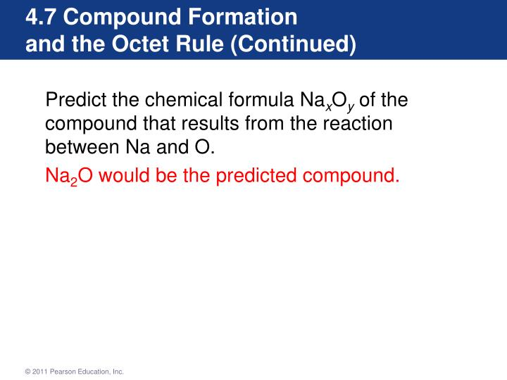 4.7 Compound Formation