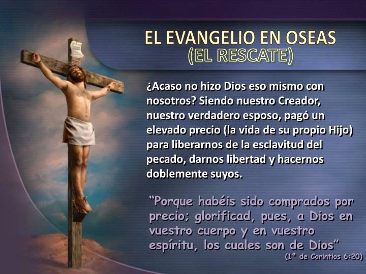 EL EVANGELIO EN OSEAS