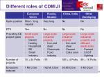different roles of cdm ji