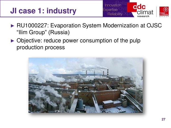 JI case 1: industry
