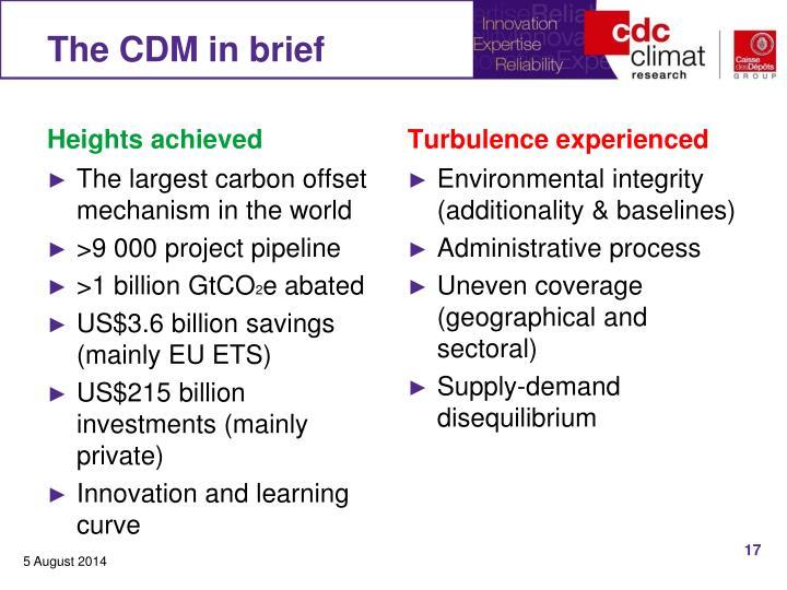 The CDM in brief
