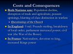 costs and consequences