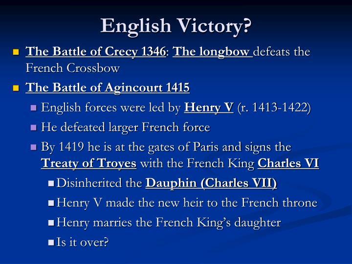 English Victory?
