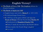 english victory