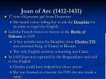 joan of arc 1412 1431
