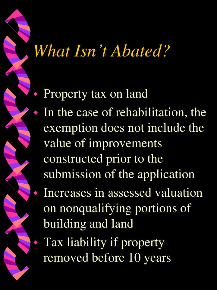 What Isn't Abated?