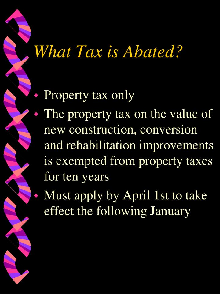 What Tax is Abated?