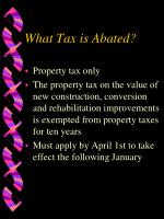 what tax is abated