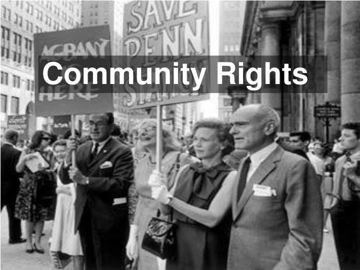Community Rights