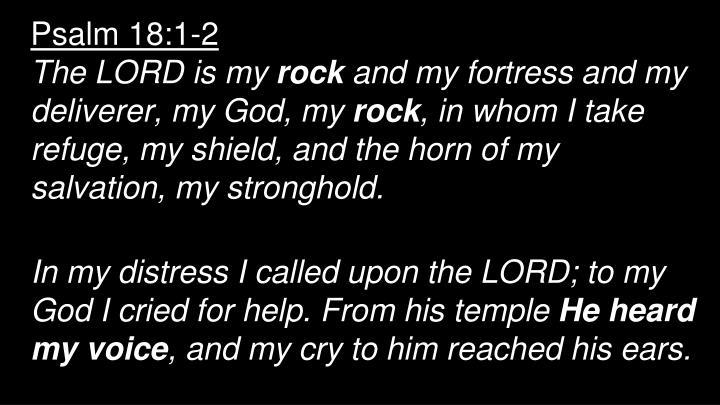 Psalm 18:1-2