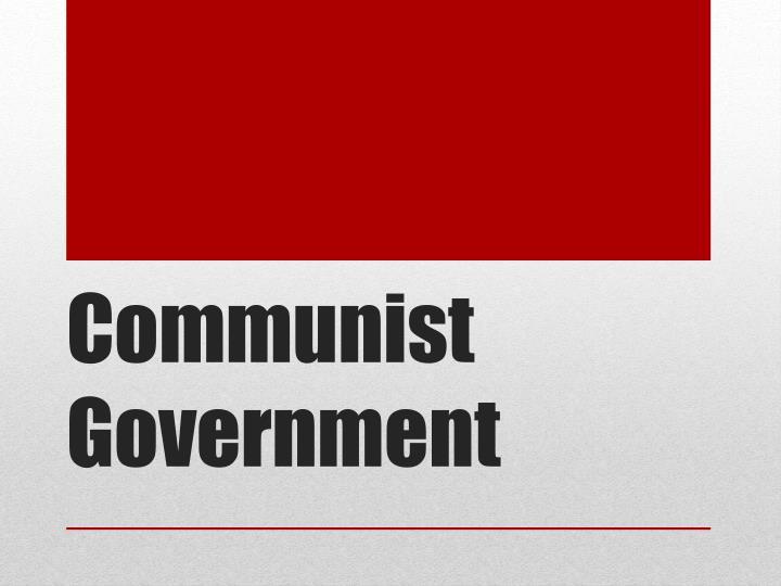 Communist Government