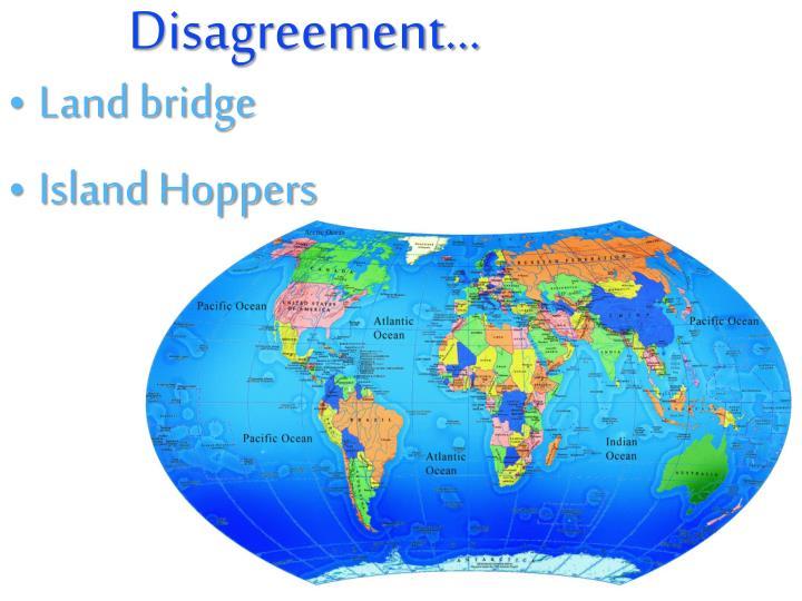 Disagreement…