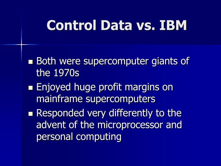 Control Data vs. IBM
