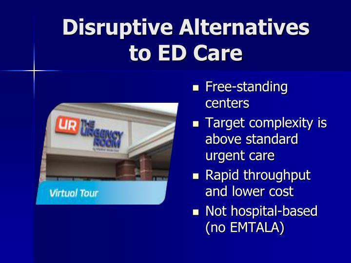 Disruptive Alternatives