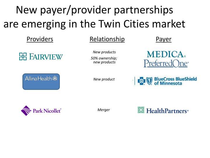New payer/provider partnerships