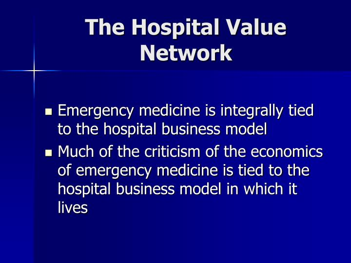 The Hospital Value Network
